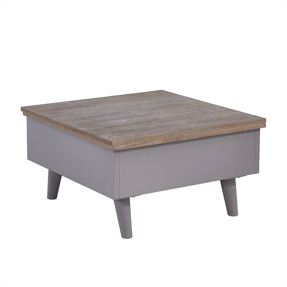 Oma Convertible Storage Coffee To Dining Table Brown - Aiden Lane