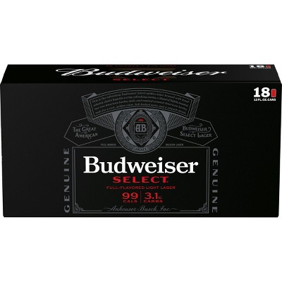 Budweiser Select Beer - 18pk/12 fl oz Cans