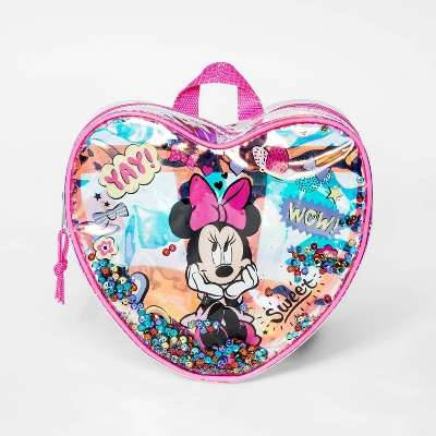 Toddler Girls' Minnie Mouse Heart Backpack - Pink