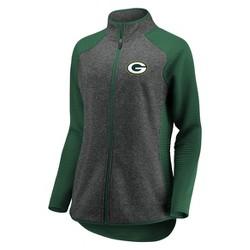 NFL Green Bay Packers Women's Draft Leader Zip-Up Fleece Sweatshirt - Gray