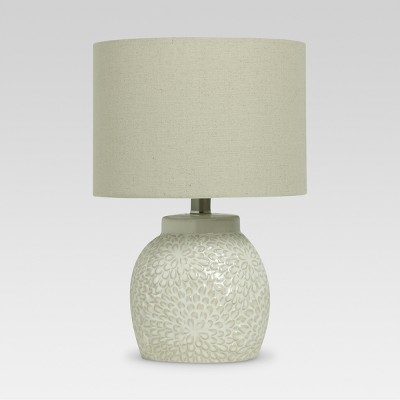 Floral Textured Ceramic Accent Lamp Shell (Includes LED Light Bulb)- Threshold™