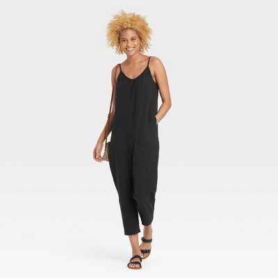 Women's Sleeveless Gauze Jumpsuit - Universal Thread™
