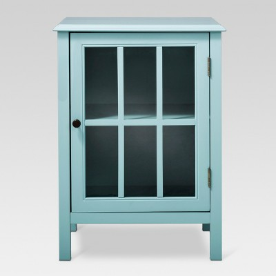 Windham One-Door Storage Cabinet Pewter Aqua - Threshold™