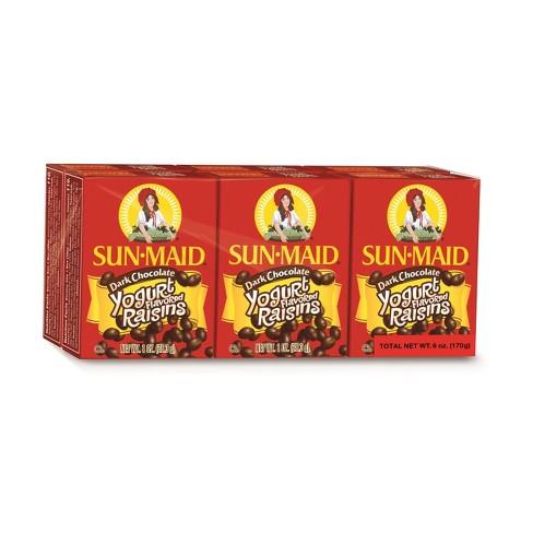 Sun Maid Dark Chocolate Yogurt Raisins - 6ct - image 1 of 4