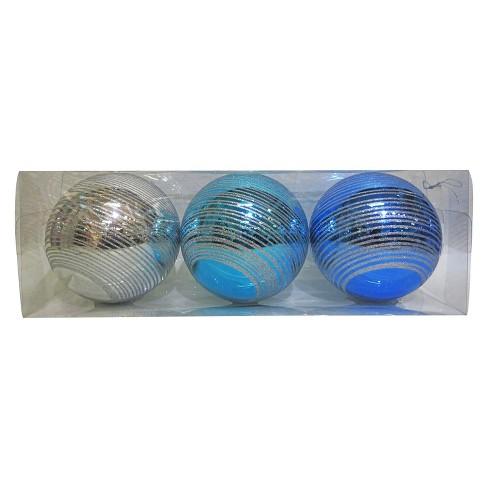 3ct Large Blue Silver Christmas Ornament Set - Wondershop™ - image 1 of 1 3764de63b