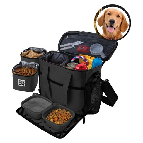 Overland Dog Gear Travel Bag - Week Away Bag for Medium & Large Dogs with 2 Food Carriers, Placemat & 2 Bowls - image 1 of 5