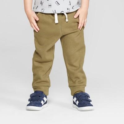 Toddler Boys' Cozy Back Pull-On Jogger Pants - Cat & Jack™ Olive 12M