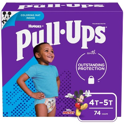 Huggies Pull Ups Boys' Potty Training Pants - Size 4T-5T - 74ct