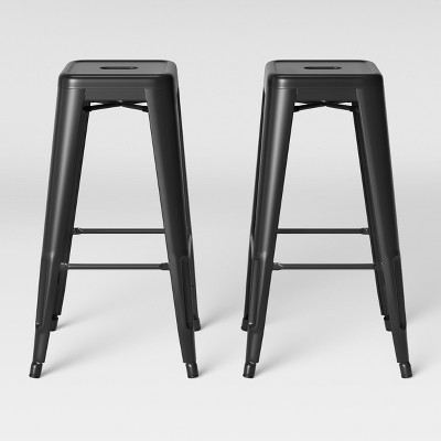 Set of 2 Carlisle Backless Barstool Matte Black - Threshold™