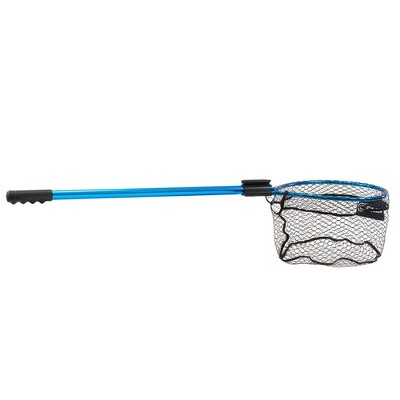 CLAM 14668 Fortis Panfish Fishing Angling Landing Net with 65.3 Inch Telescoping Handle, Conservation Focused Design, and Rubberized Coating