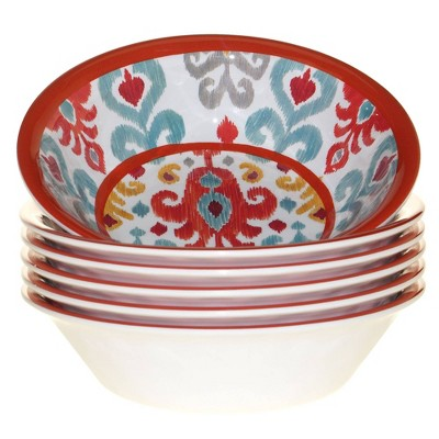 22oz 6pk Melamine Bali All Purpose Dining Bowls - Certified International