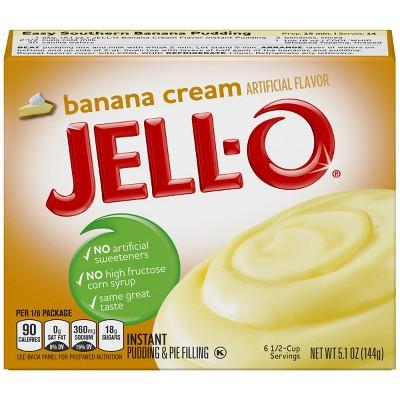 JELL-O Instant Banana Cream Pudding & Pie Filling - 5.1oz