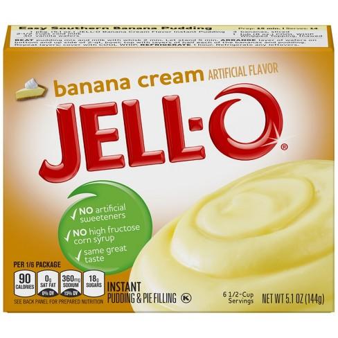Jell-O Instant Banana Cream Pudding & Pie Filling - 5.1oz - image 1 of 3