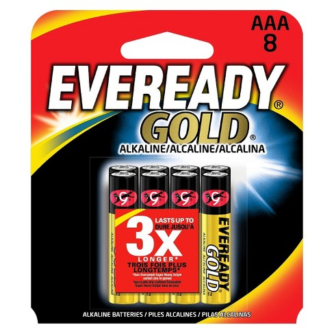 Eveready Gold AAA Batteries 8 ct - image 1 of 1