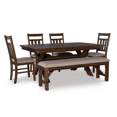 6pc Landon Dining Set Brown - Powell Company
