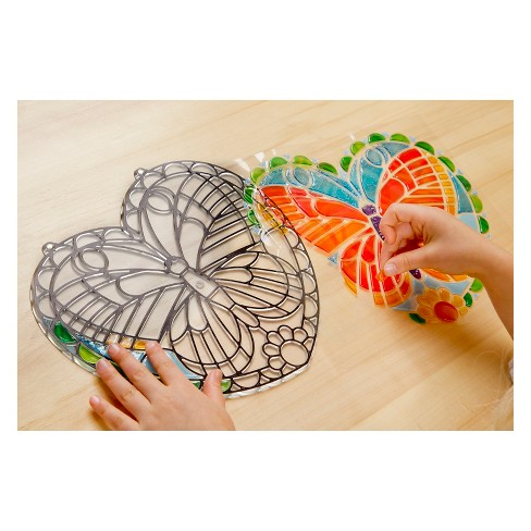 Melissa and Doug Stained Glass Made Easy Butterfly Window Cling - image 1 of 3