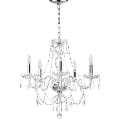 "Jingle 5 Light ""22.5"" Dia Adjustable Chandelier Chrome / Clear - Safavieh® - image 1 of 2"