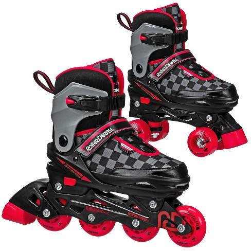 Roller Derby 2-in-1 Kids' Adjustable Inline and Quad Skate Combo - (M) - image 1 of 4