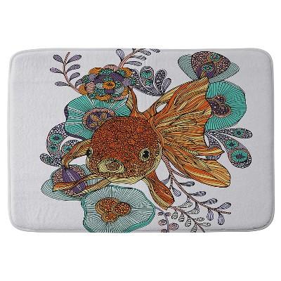 Valentina Ramos Little Fish Cushion Bath Mat Orange - Deny Designs