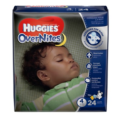 Huggies Overnites Diapers Jumbo Pack - Size 4 (24ct)
