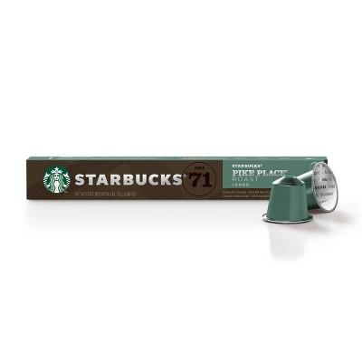 Starbucks Nespresso Pike Place Espresso Roast Coffee Pods - 10ct