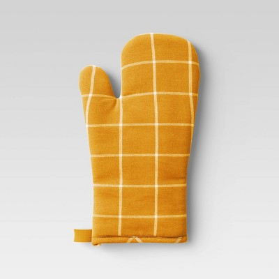 Yarn Dyed Woven Oven Mitt Yellow - Room Essentials™