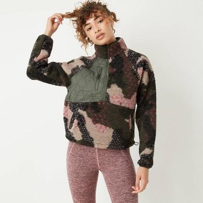 Women's 1/2 Zip Sherpa Pullover Sweatshirt - JoyLab™