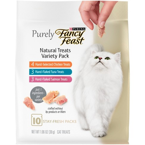 Purina Fancy Feast Purely Natural Treats Variety Pack Cat Treats - 1.06 oz. Pouch - image 1 of 3