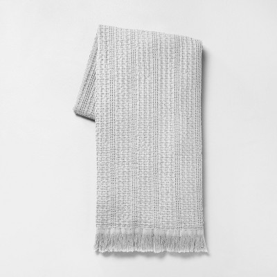 """60"""" x 70"""" Summer Throw Blanket Jet Gray - Hearth & Hand™ with Magnolia"""