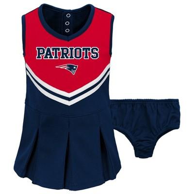 NFL New England Patriots Toddler Girls' In the Spirit Cheer Set