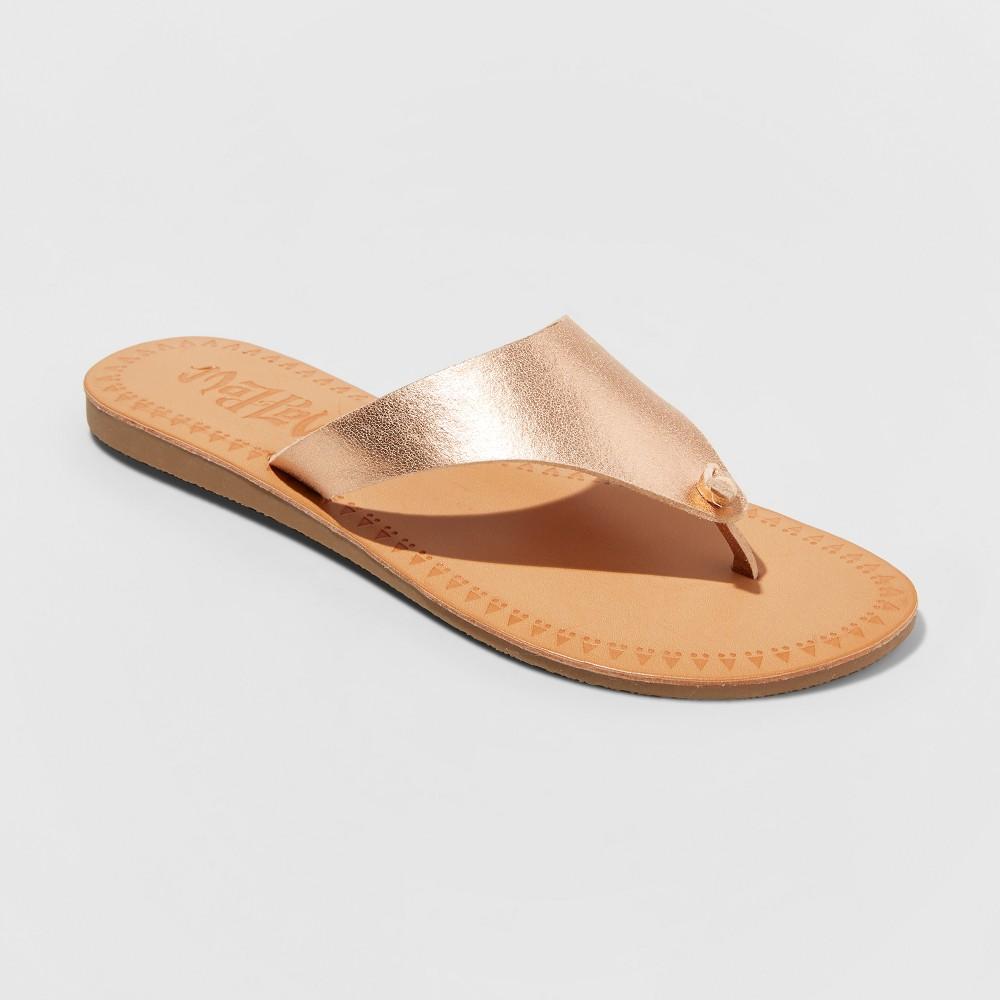 Women's Mad Love Vada Flip Flop Sandal - Rose Gold 9