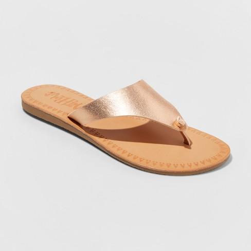 fb38eb608 Women s Mad Love Vada Flip Flop Sandal - Rose Gold 9   Target