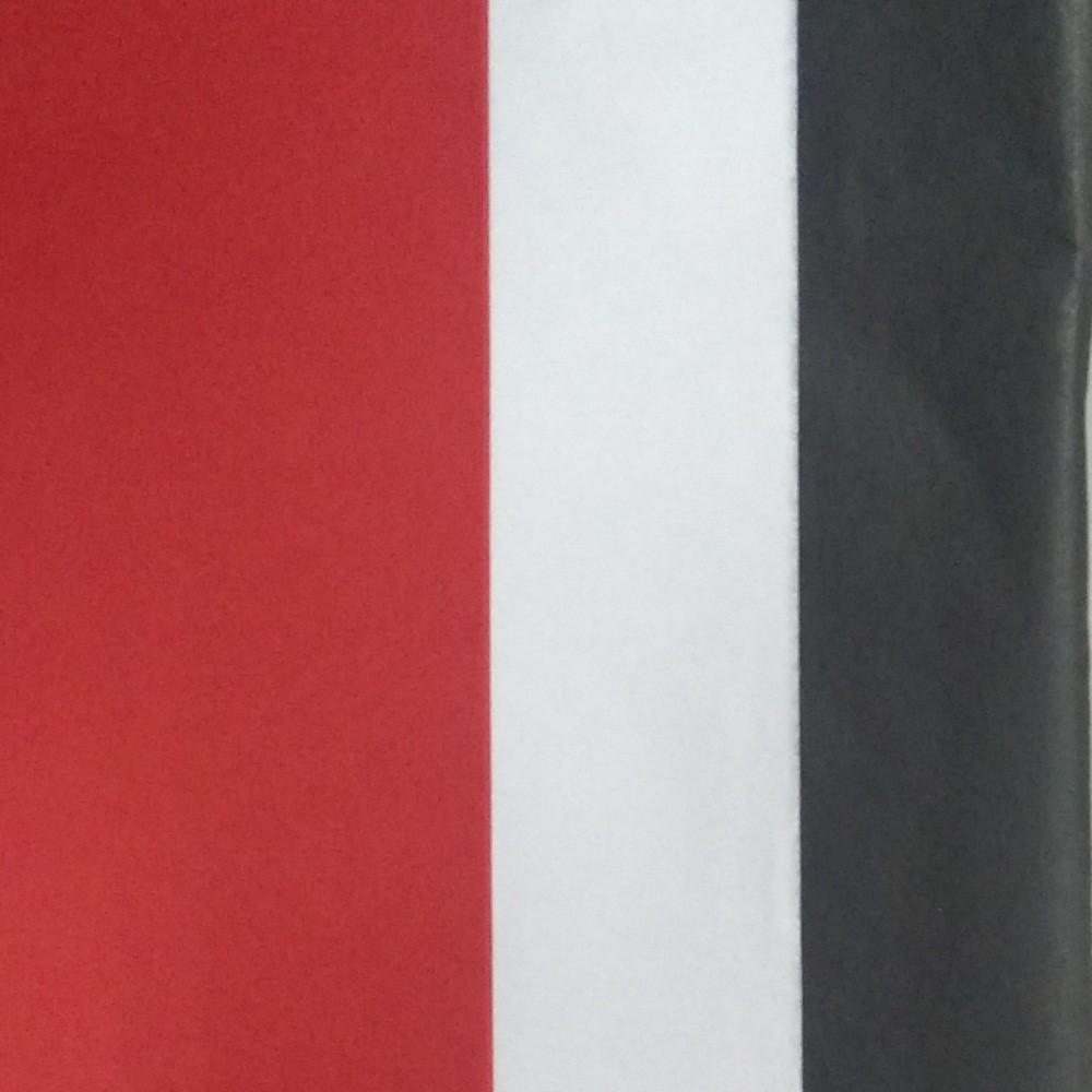 Image of 3 Step Striped Tissue Paper Red/Black - Spritz