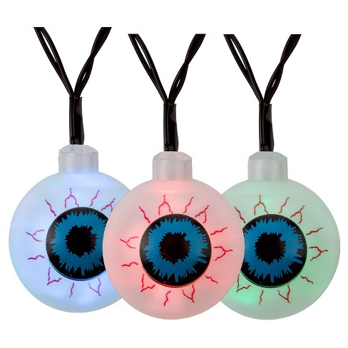 Philips Halloween LED Color Changing Eye Balls Battery-Operated String Lights - 10 ct - image 1 of 2