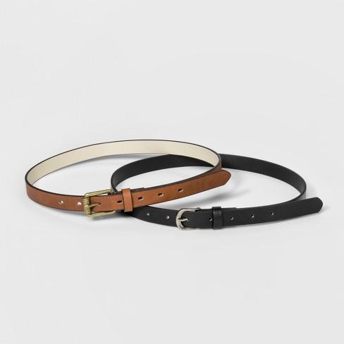 Women's Tribal Engraved Belts - Universal Thread™ Black/Brown - image 1 of 3