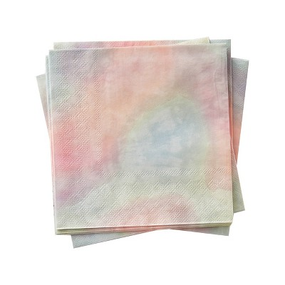 30pk Tie Dye Disposable Lunch Napkins
