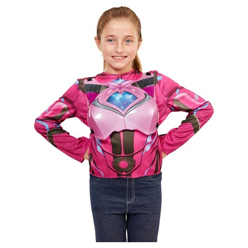 Power Rangers Pink Deluxe Ranger Dress Up Set with Light Up Chest Armor - image 1 of 7