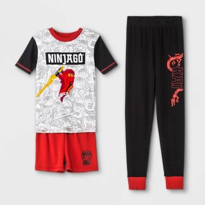 Boys' Ninjago 3pc Pajama Set - Red/Black/White