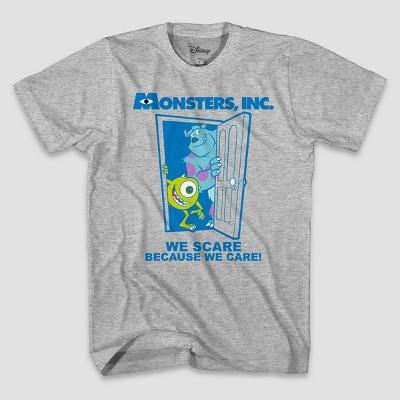 Men's Disney Monsters Short Sleeve Graphic T-Shirt - Heather Gray