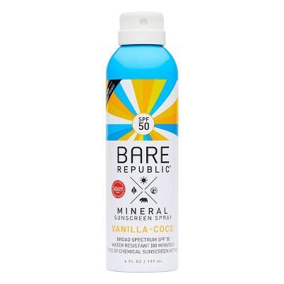 Bare Republic Mineral Sunscreen Vanilla Coco Spray SPF 50 - 6.0 fl oz