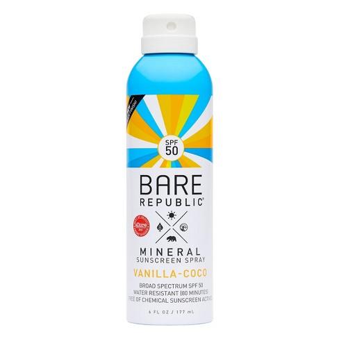 Bare Republic Mineral Sunscreen Vanilla Coco Spray SPF 50 - 6.0 fl oz - image 1 of 4