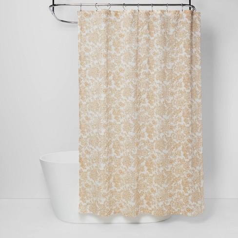 Fl Shower Curtain Yellow