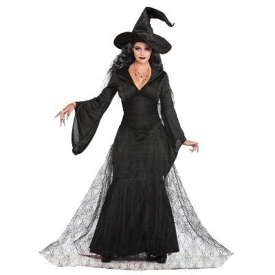 Adult Black Mist Witch Halloween Costume XS/S