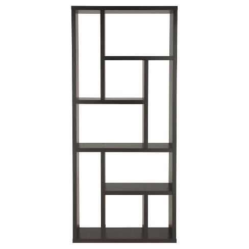 "71"" Stanza9 Shelf Bookcase Canyon Cappuccino - ioHOMES - image 1 of 3"