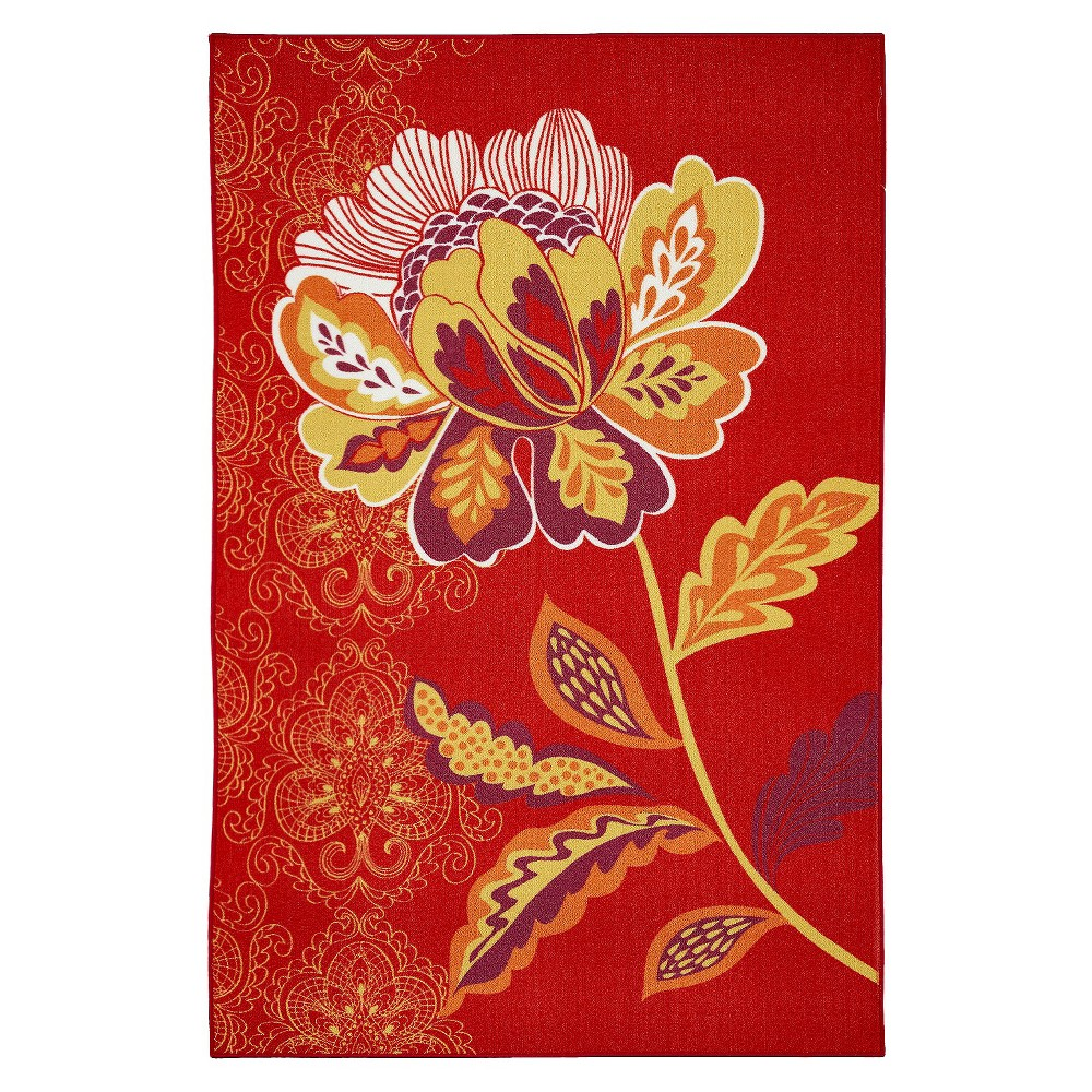 Image of 8'X10' Floral Area Rug Red - Mohawk