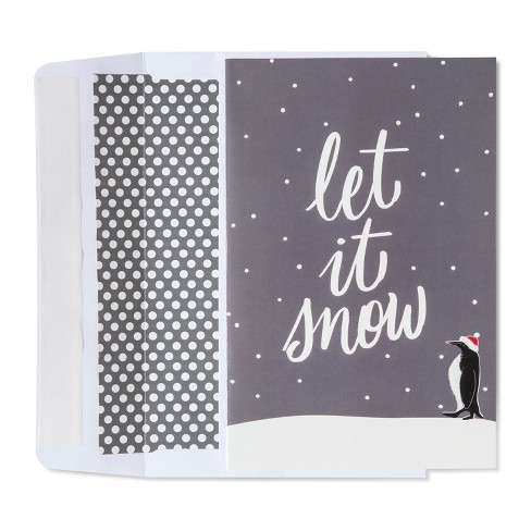 American greetings 40ct let it snow with penguin holiday boxed cards about this item m4hsunfo