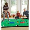HearthSong - Golf Pool Indoor Family Game Special, Includes Two Golf Clubs, 16 Balls, Green Mat, Rails, and Wooden Arches - image 2 of 4