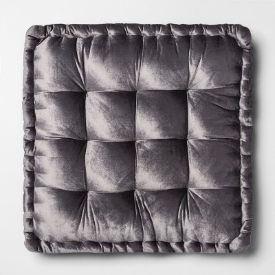 Velvet Oversize Square Floor Cushion Gray - Opalhouse™