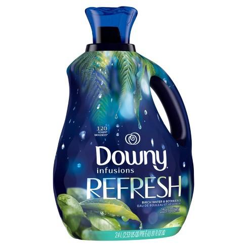 Downy Infusions Liquid Fabric Softener Refresh - Birch Water & Botanicals - 81 fl oz - image 1 of 3