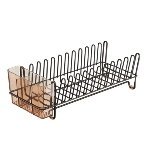 mDesign Compact Countertop, Sink Dish Drying Rack Caddy - image 1 of 4